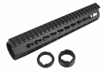 "URX4 10"" CNC Aluminum Free Float Rail - Black"