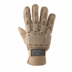 V-Tac Full Finger Plastic Back Airsoft Gloves, Tan
