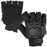Black V-Tac Half Finger Armored Gloves