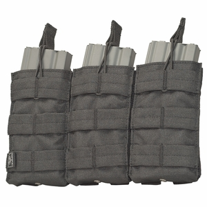 V-TAC M4/M16 Triple Magazine Pouch - Tactical Black