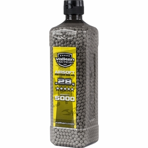 Valken Tactical 0.28g BB, 5000 Rounds, Bottle, White