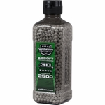 Valken Tactical 0.30g BBs, 2500 Rounds, Bottle, White, Biodegradable