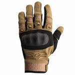 Valken Zulu Tactical Hard Knuckled Gloves, Tan