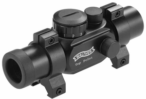 Walther Top Point Sight 1 (TPS), 11 Brightness Levels, Weaver Rings - CLOSEOUT SPECIAL