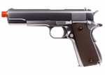 WE Chrome 1911 Full Metal Gas Blowback Airsoft Gun