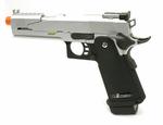WE Hi-Capa 5.1 Dragon Type A Silver Metal Pistol