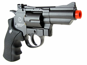 "WG CO2 Full Metal Airsoft Revolver, 2"" Snub Nose, Black"
