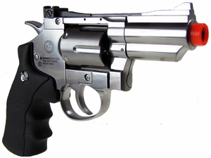 "WG CO2 Full Metal Airsoft Revolver, 2"" Snub Nose, Chrome"