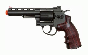 "WG CO2 Full Metal Airsoft Revolver, 4"" Black"
