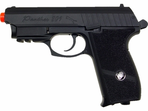 WG Panther 801 CO2 Airsoft Pistol, Full Metal Blowback, Black with Laser