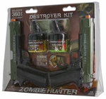 Zombie Hunter Destroyer Kit, Dual 1911 Spring Pistols w/ BBs, Zombie Targets, and BB Trap