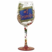 #1 Grandpa Wine Glass by Lolita�