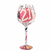 21 Super Bling Wine Glass by Lolita�