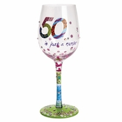 50 is Just a Number Wine Glass by Lolita�