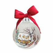 A White Christmas Ball Ornament by Lolita�