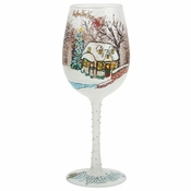 A White Christmas Wine Glass by Lolita�