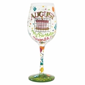 August Birthday Month Wine Glass by Lolita�