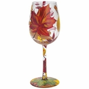 Autumn Leaves Wine Glass by Lolita�