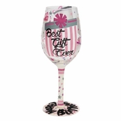 Best Gift Ever Wine Glass by Lolita�
