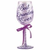 Best Grandma Ever Wine Glass by Lolita�