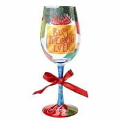 Best Present Ever Wine Glass by Lolita�