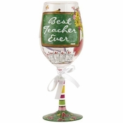 Best Teacher Ever Wine Glass by Lolita�