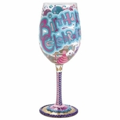 Birthday Celebration Wine Glass by Lolita�