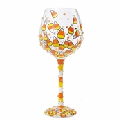 Candy Corn Super Bling Wine Glass by Lolita�