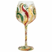 Christmas Beauty Super Bling Wine Glass by Lolita�