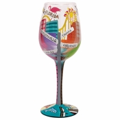 Florida Wine Glass by Lolita�