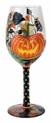 Halloween Bouquet Wine Glass by Lolita�