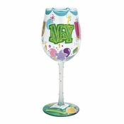 Happy May Wine Glass by Lolita�