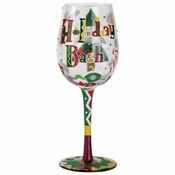 Holiday Bash Wine Glass by Lolita�