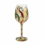 Holiday Beauty Wine Glass by Lolita�