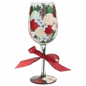 Holiday Bouquet, Too Wine Glass by Lolita�