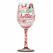 Holiday Hottie Wine Glass by Lolita�