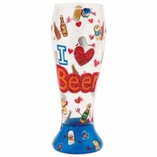 I Love Beer Pilsner Glass by Lolita�