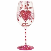 I Love You Wine Glass by Lolita�