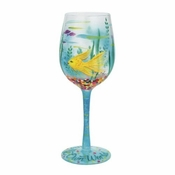 In My Own World Wine Glass by Lolita�