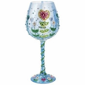 Mother's Garden Super Bling Wine Glass by Lolita�