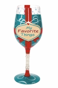 My Favorite Things Wine Glass by Lolita�