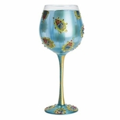 Peacock Super Bling Wine Glass by Lolita�