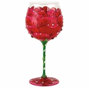 Red Rose Super Bling Wine Glass by Lolita�