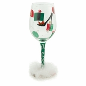 Shop-A-Holiday Wine Glass by Lolita�