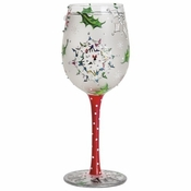 Shop-A-Snowflake Wine Glass by Lolita�