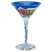 Sleigh Ride Martini Glass by Lolita�