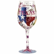 Texas Girl Wine Glass by Lolita�