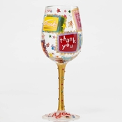 Thank You. Thank You Wine Glass by Lolita�