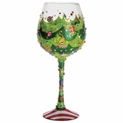 Tipsy Christmas Super Bling Wine Glass by Lolita�