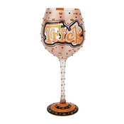 Trick or Treat Super Bling Wine Glass by Lolita�